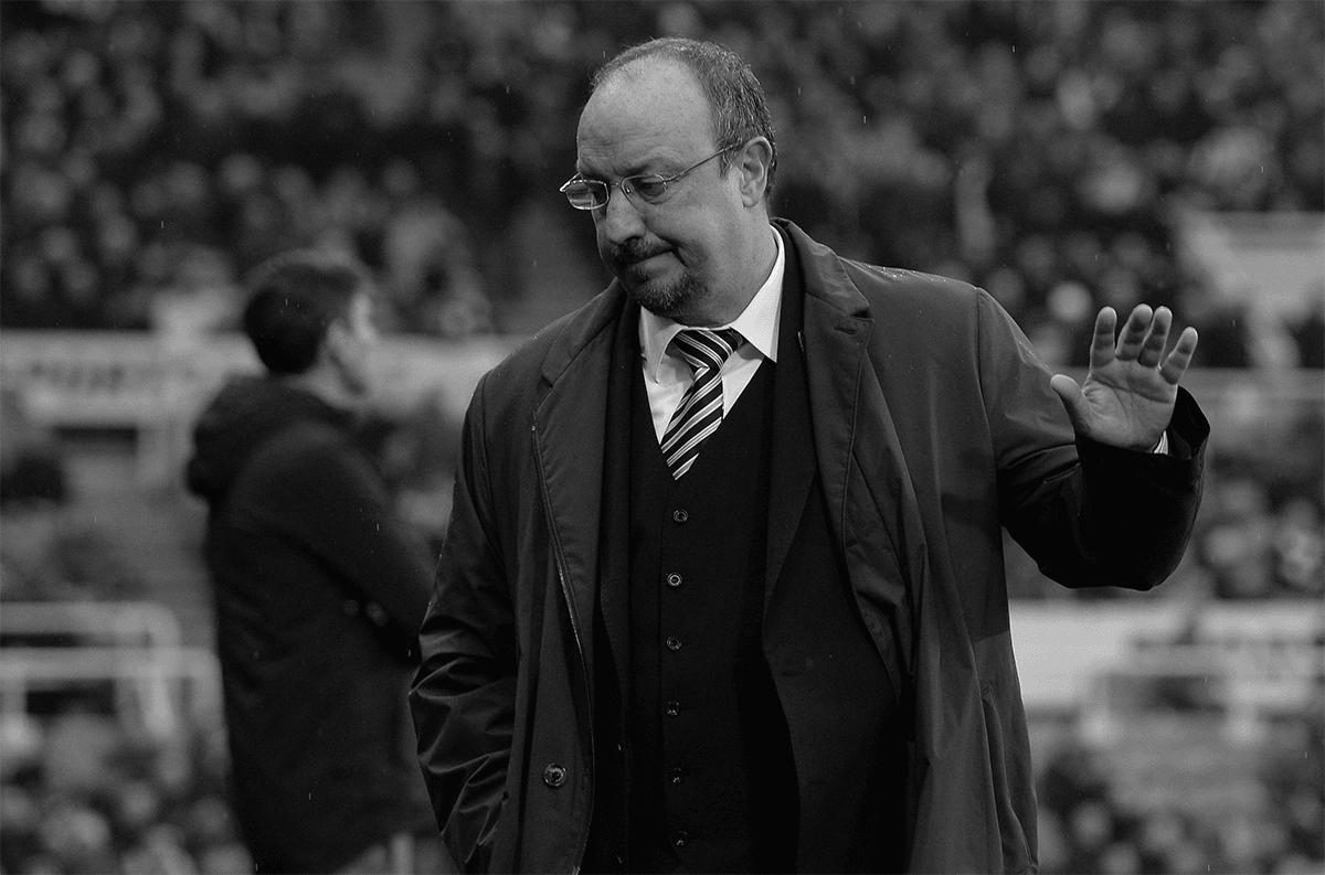 Rafa Benitez ponders as Newcastle United take on Southampton in the Premier League.