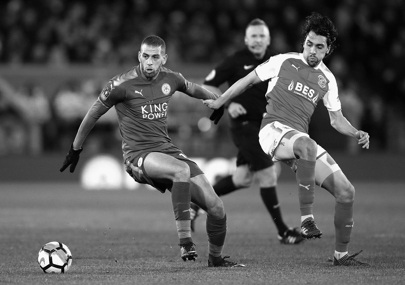 Islam Slimani in action for Leicester City - now he will be tasked with keeping Newcastle in the Premier League.