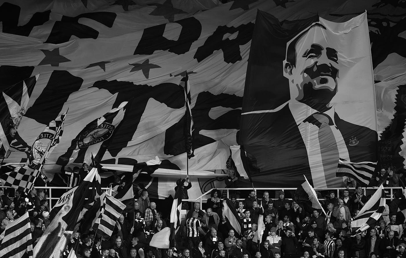 A banner of support for Rafa Benitez.