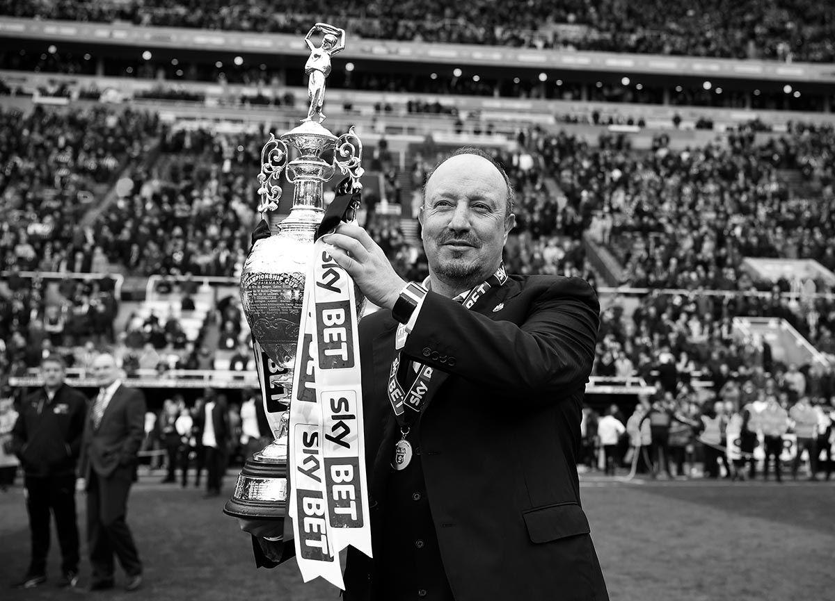 Rafa celebrates winning the Championship