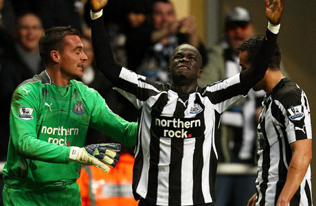 Cheik Tiote's goal vs. Arsenal