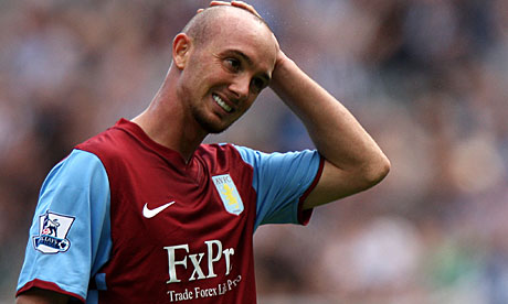 A frustrated Stephen Ireland in action for Aston Villa