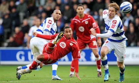 Bristol City's Nicky Maynard scores a wonder goal against Queens Park Rangers