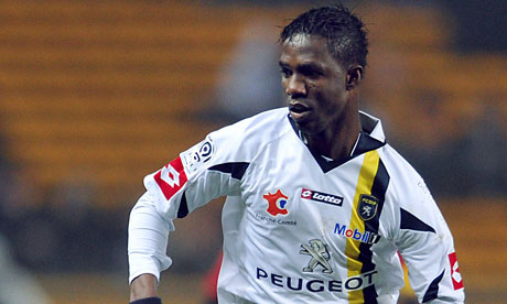 Modibo Maiga in action for Sochaux in Ligue 1