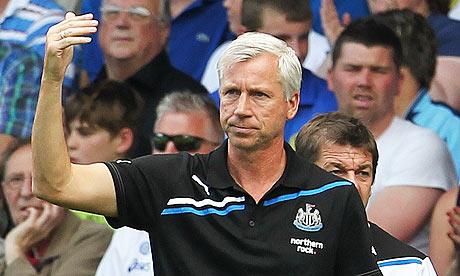 Alan Pardew during a Newcastle United Premier League match