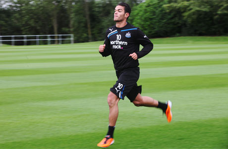 Hatem Ben Arfa training in Benton, Newcastle