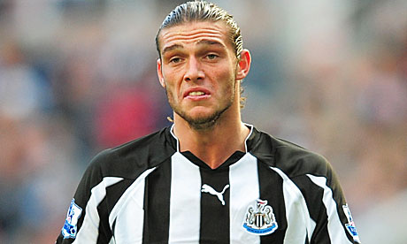Andy Carroll in action for Newcastle United against Aston Villa