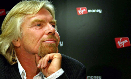 Virgin Money owner Richard Branson takes question in press conference