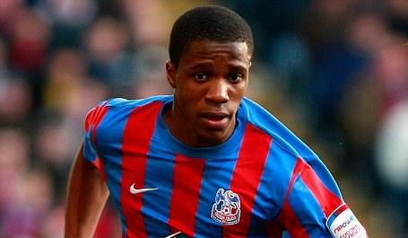 Wilfried Zaha in action for Crystal Palace in the nPower Championship