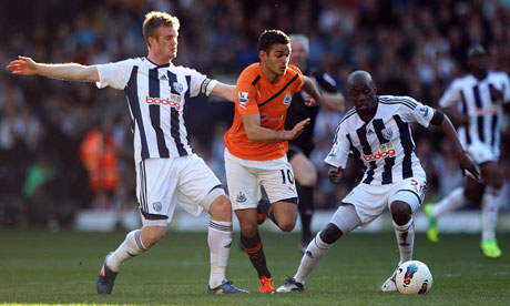 Hatem Ben Arfa in action for Newcastle United against West Brom