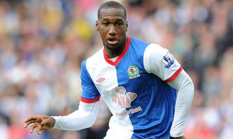 Junior Hoilett in action for Blackburn Rovers on Saturday