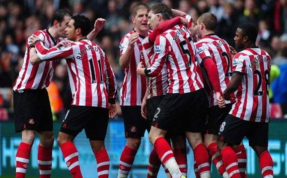 Sunderland players celebrates opener at St.James' Park