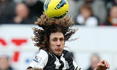 Fabricio Coloccini in action against Stoke City