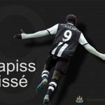 Tyne Time's wallpaper of Newcastle United strike Papiss Cissé