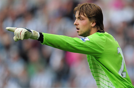 Tim Krul issues instructions to his back four