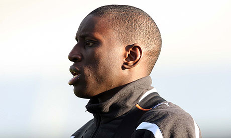 Demba Ba trains with Newcastle United