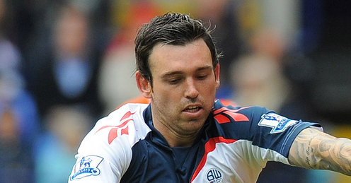Mark Davies in Bolton Wanderers final Premier League game of 2012