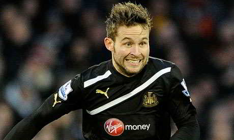 Yohan Cabaye does some tracking back away at Fulham