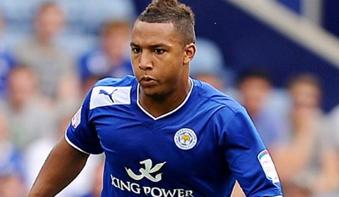 Liam Moore in action for Leicester City