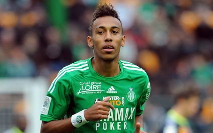 Pierre Emerick Aubameyang in action for Saint Etienne