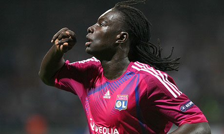 Bafetimbi Gomis in action for Lyon