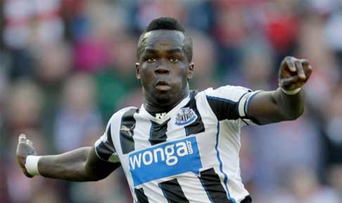 Cheick Tioté in action for Newcastle United