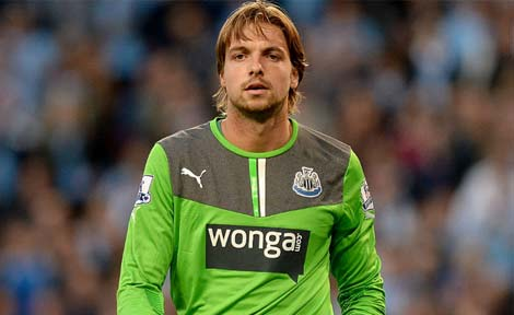 Tim Krul in action for Newcastle United