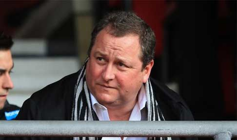 Mike Ashley watches from the stands as Newcastle take on Southampton