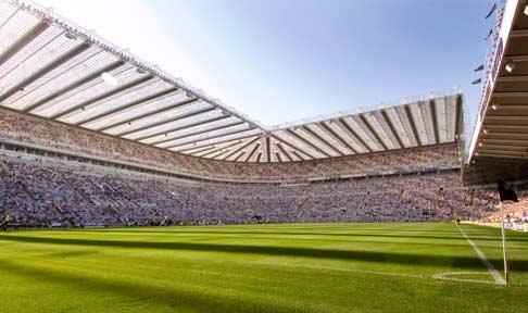 St. James' Park Stadium, Newcastle.