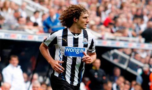Fabricio Coloccini in action for Newcastle United against Cardiff City