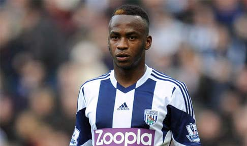 Saido Berahino in action for West Brom