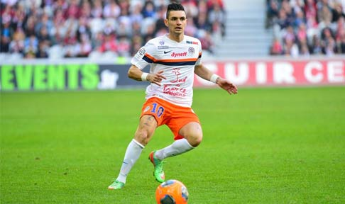 Rémy Cabella in action for Montpellier in Ligue 1