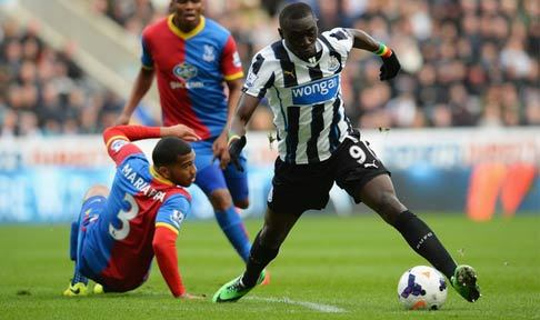 Papiss Cisse in action against Crystal Palace