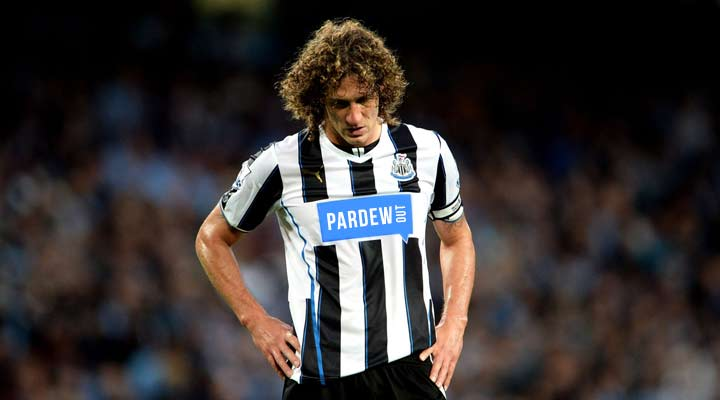 Fabricio Coloccini looks dejected as Newcastle crumble against Manchester City