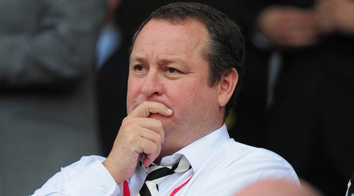 Mike Ashley takes in a Newcastle United Premier League encounter