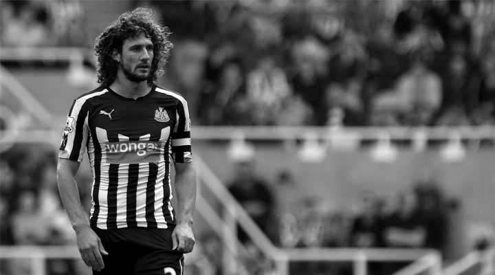 Fabricio Coloccini looks on as Tottenham take the lead at St. James' Park