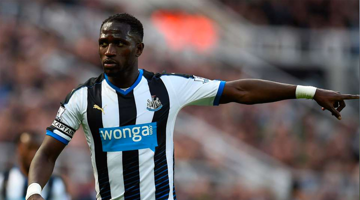 Newcastle United's Moussa Sissoko in action against Tottenham