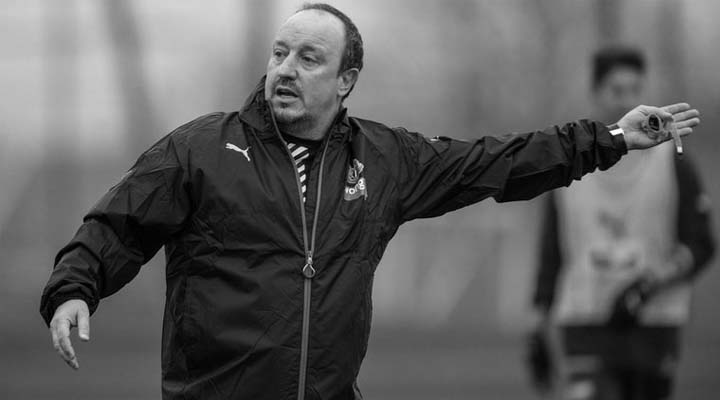 Rafa Benitez issues instructions at Newcastle United