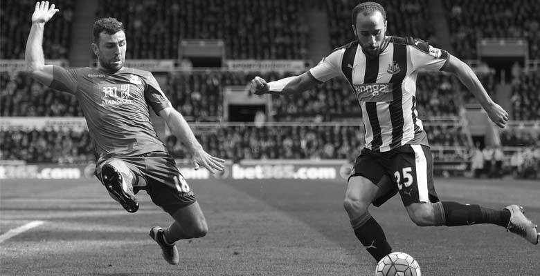 Andros Townsend in action for Newcastle United against Crystal Palace